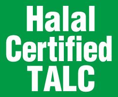 Halal-certified talc